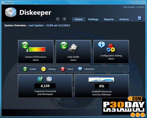 Diskeeper Pro 2016 19.0.1214.0 - یکپارچه سازی هارد دیسک
