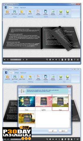 برنامه ساخت صفحات سه بعدی 3D PageFlip for PowerPoint v2.0