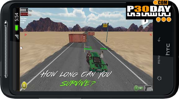 دانلود بازی جذاب و هیجانی زامبی Drive with Zombies 3D v1.6 آندروید