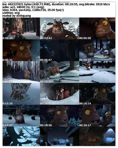 دانلود انیمیشن کوتاه The Gruffalo's Child 2011 برنده جایزه اسکار