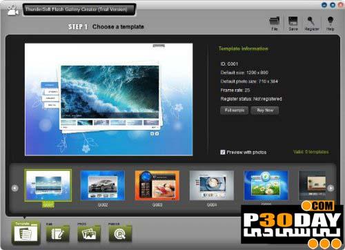 نرم افزار ساخت گالری فلش ThunderSoft Flash Gallery Creator 1.0.2.2