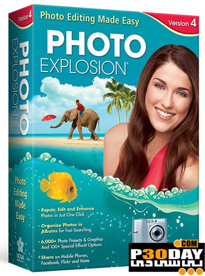 برنامه ویرایش و افکتگذاری دیجیتال عکس ها Photo Explosion v4.0