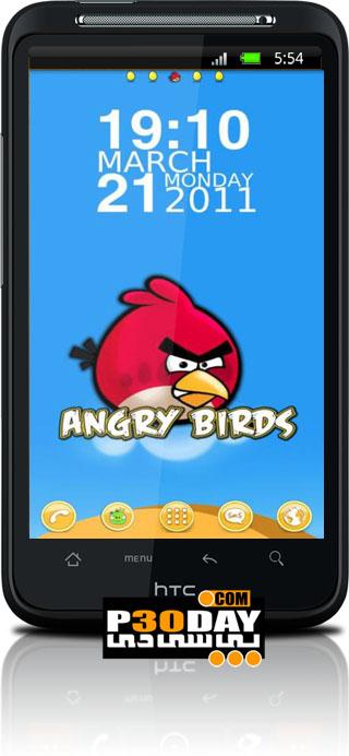 دانلود تم فوق العاده زیبای Angry Birds Theme Go Launcher v1.1 آندروید