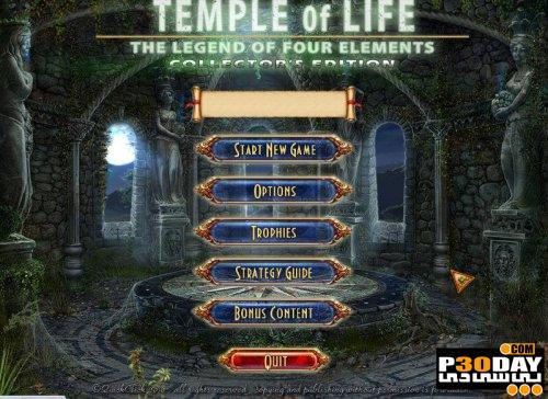 بازی Temple of Life: The Legend of Four Elements Collector's Edition