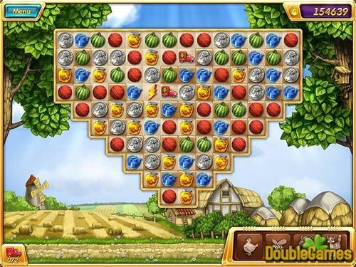 حل پازل های گیج کننده و آبادسازی روستا در بازی Crop Busters Portable