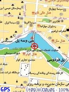 دانلود نقشه کامل جی پی اس اصفهان موبایل با وضوح بسیار بالا