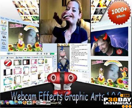 نرم افزار قرار دادن افکت در وب کم Webcam Effects Graphic Arts 1.0.0