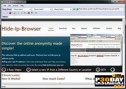 دانلود برنامه مخفی شدن در زمان وبگردی Hide-Ip-Browser 2.0