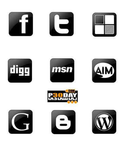 دانلود آیکونهای زیبای سایت های اجتماعی Social Icons