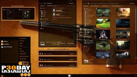دانلود تم زیبای ویندوز سون Orange Cult 2.0 Theme for Windows 7