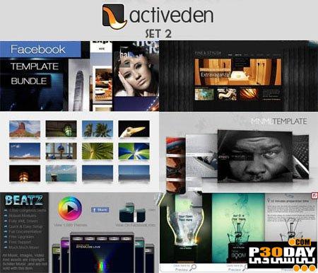 دانلود 13 قالب آماده فلش ActiveDen - Flash Templates