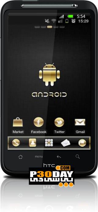 تم فوق العاده زیبا و جذاب Gold Droid PRO GO Launcher EX v1.5 آندروید