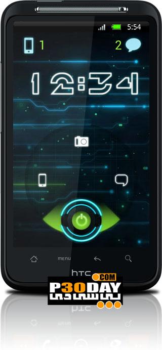 تم مدرن آندروید Go Locker Future Glow Theme v1.0