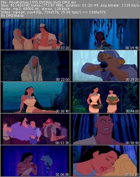دانلود انیمیشن زیبای Pocahontas 1995