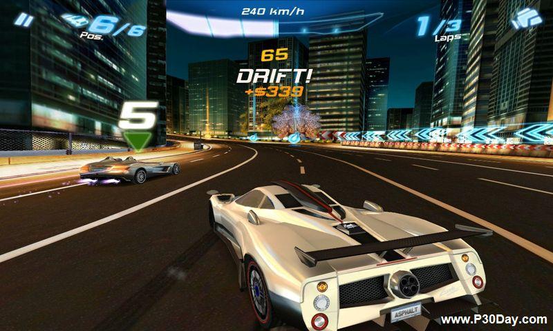 دانلود بازی ماشین سواری فوق العاده آندروید Asphalt 6 HD Android