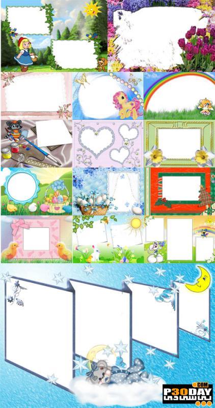 دانلود قاب آماده عکس Collection of Spring Photo frames pack 2