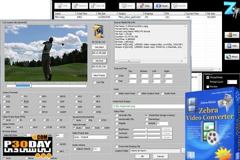 برنامه تبدیل فایلهای صوتی و تصویری Zebra Media Total Video Converter 1.4