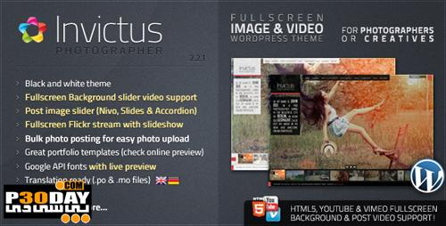 قالب سایت ThemeForest Invictus v2.2.1 Premium Photographer Portfolio