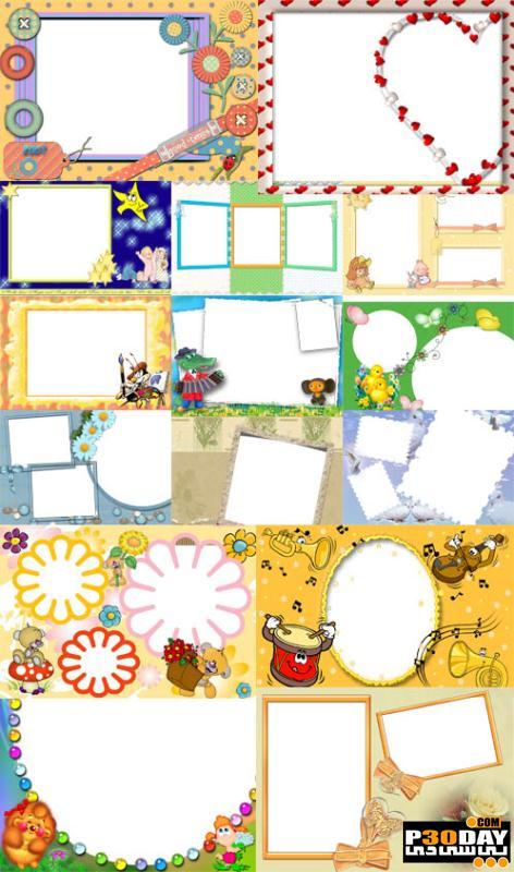دانلود فریم آماده عکس Collection of Spring Photo frames pack 5