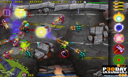 بازی کشتن زامبی ها Zombie Attack! 2 v1.1 برای Windows Phone 7