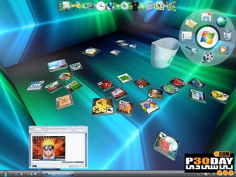 برنامه سه بعدی سازی آیکونهای ویندوز Real Desktop 1.76 Standard