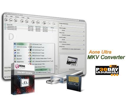 تبدیل فرمت MKV به دیگر فرمت ها با Aone Ultra MKV Converter 4.3.0206