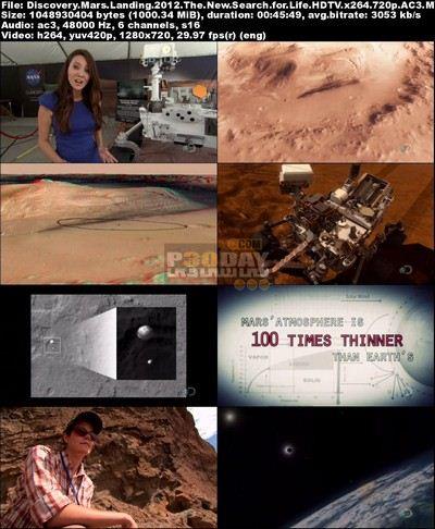فیلم مستند فرود مریخ نورد Mars Landing 2012