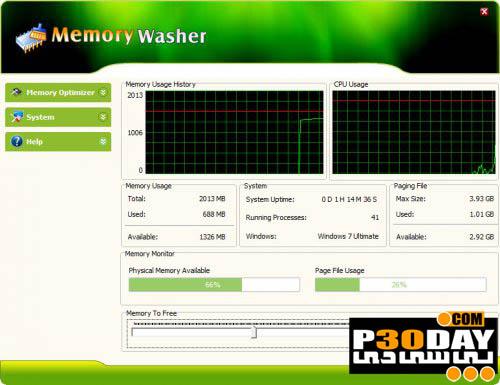 دانلود نرم افزار بهینه سازی رم Memory Washer 7.1.0 Portable