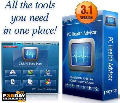 مجموعه برنامه های کاربردی ویندوز Paretologic PC Health Advisor 3.1.0.23