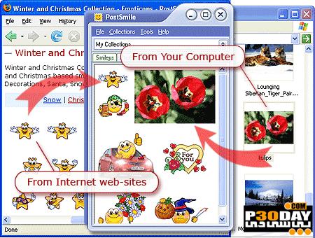 برنامه ارسال شکلک های زیبا در ایمیل و مسنجرها PostSmile 7.0.3