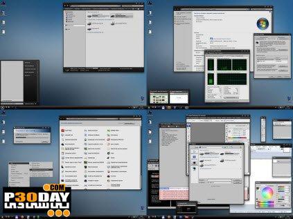 دانلود تم ویندوز سون Black And White Theme For Windows 7