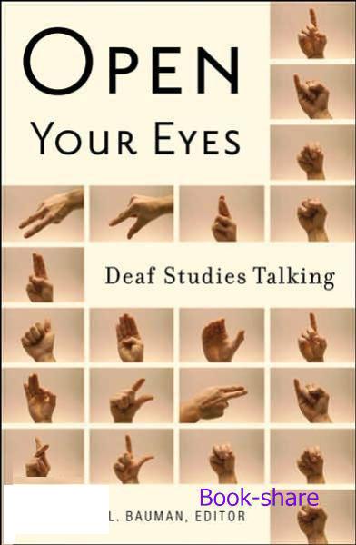 کتاب آموزشی حرکات رمزدار دست Open Your Eyes: Deaf Studies Talking