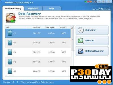 برنامه بازیابی فایلهای حذف شده WinMend Data Recovery 1.4.0.0