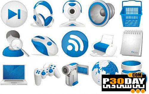 دانلود مجموعه آیکن فوق العاده زیبا Sarfik Icons Pack Collection 2012