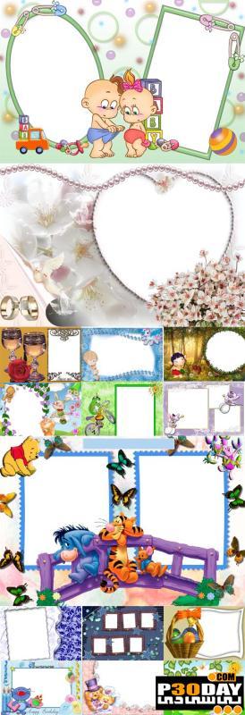 دانلود فریم آماده عکس Collection of Spring Photo frames pack 3