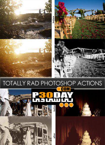 مجموعه اکشن فوق العاده زیبا و حرفه ای Totally Rad Actions برای فتوشاپ