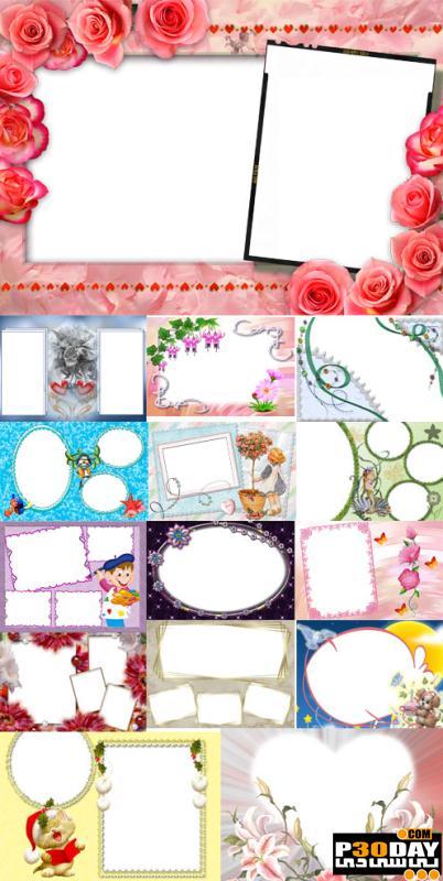 دانلود فریم آماده عکس Collection of Spring Photo frames pack 6