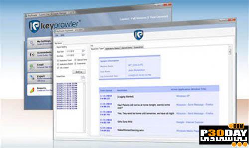 دانلود نرم افزار ضبط تمامی فعالیت های کامپیوتر KeyProwler Pro v6.7.1.0