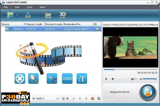 نرم افزار تبدیل و ساخت دی وی دی Leawo DVD Creator v5.0.0.1