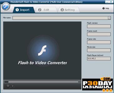 برنامه تبدیل فلش به ویدیو ThunderSoft Flash to Video Converter 4.1.0