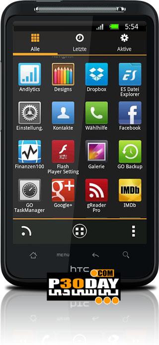 دانلود تم شیک و بسیار زیبای MIUI X4 Go Launcher Theme PRO v1.15 آندروید