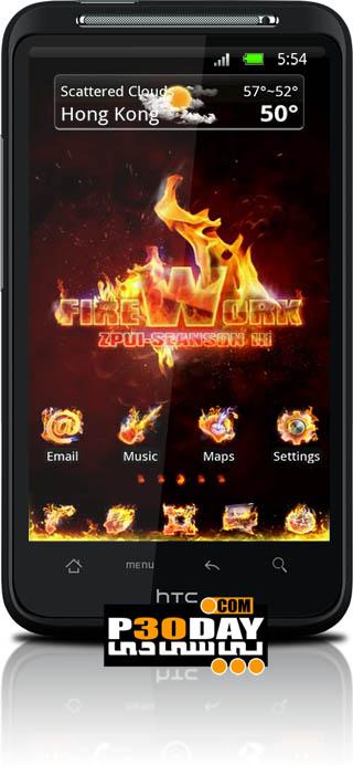 تم فوق العاده زیبا و شیک Firework GoLauncher EX Theme v1.2 آندروید