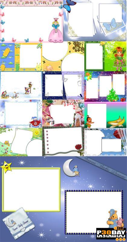 دانلود قاب آماده عکس Collection of Spring Photo frames pack 4