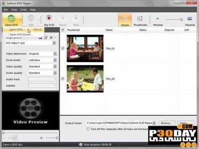 برنامه ریپ کردن دی وی دی Sothink DVD Ripper Pro 2.1 Build 211