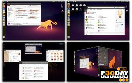 دانود پکیج تغییر ویندوز 7 به اوبونتو  ubuntu Skin Pack 8.0 For Windows 7