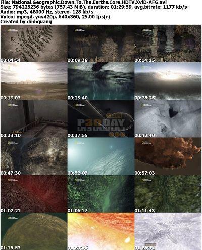 فیلم مستند سفر به هسته ی کره زمین Down To The Earth's Core