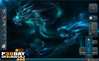 دانلود تم ویندوز سون Blue-Dragon Seven Style - Theme for Windows 7