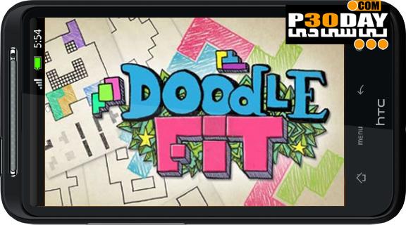 دانلود بازی فکری و بسیار زیبای Doodle-Fit v1.3 آندروید