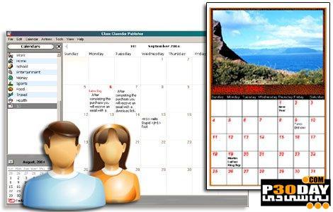 ساخت تقویم های زیبای تصویری Web Calendar Pad 2011.7.1