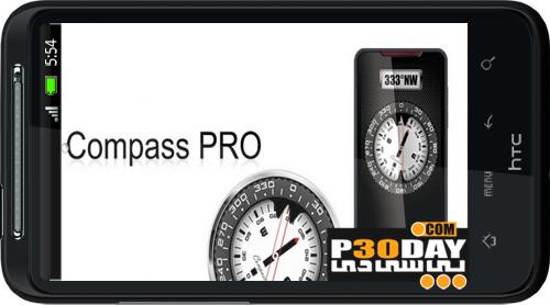دانلود قطب نمای دقیق Compass PRO v2.1 مخصوص آندروید